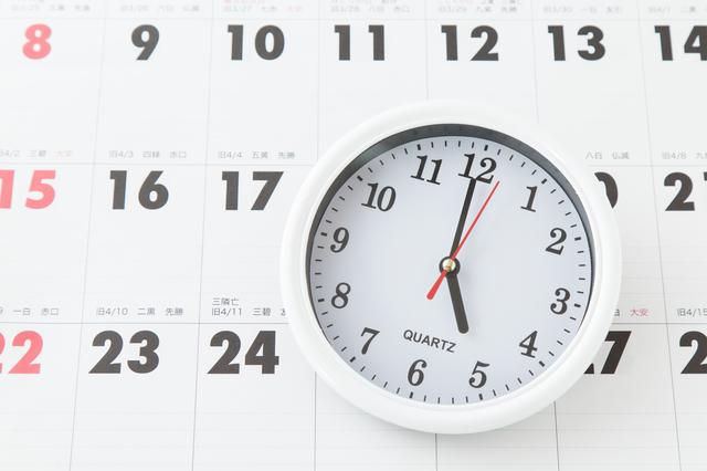 カレンダーと時計